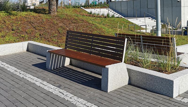 Ławki betonowe, parkowe, uliczne